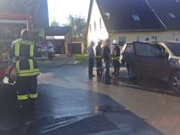Brand einer Garage in Wilschdorf, 04.10.2014