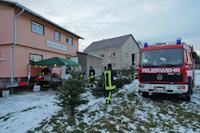 Weihnachtsbaumverbrennen auf dem Marktplatz in Dittersbach, 09.01.2016