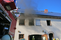 Brand in einem Wohnhaus in Wilschdorf, 21.05.2018