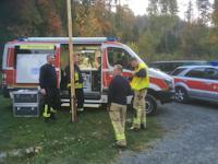 Waldbrand im Bielatal / Ostrov, 12.10.2018