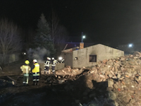 Brand von Unrat in Wilschdorf, 12.02.2020