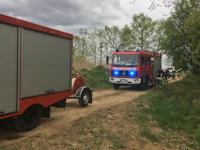 Brand eines Lagerfeuers in Dittersbach, 30.04.2020
