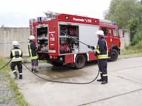Brand im ehemaligen Asylbewerberheim Porschendorf, 04.08.2008