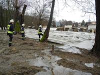 Hochwasser durch Eisstau auf der Wesenitz, 19.02.2012