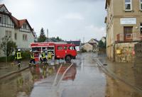 Hochwasser nach Gewitter in Dittersbach, 20.09.2014