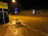 Hochwasser durch Starkregen in Dittersbach, 26.06.2016