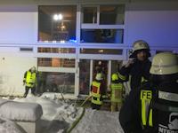 Brand in einem Wohnhaus in Elbersdorf, 29.01.2021